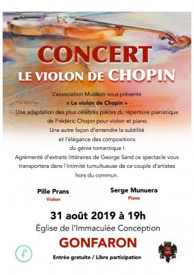 concert violon piano eglise gonfaron