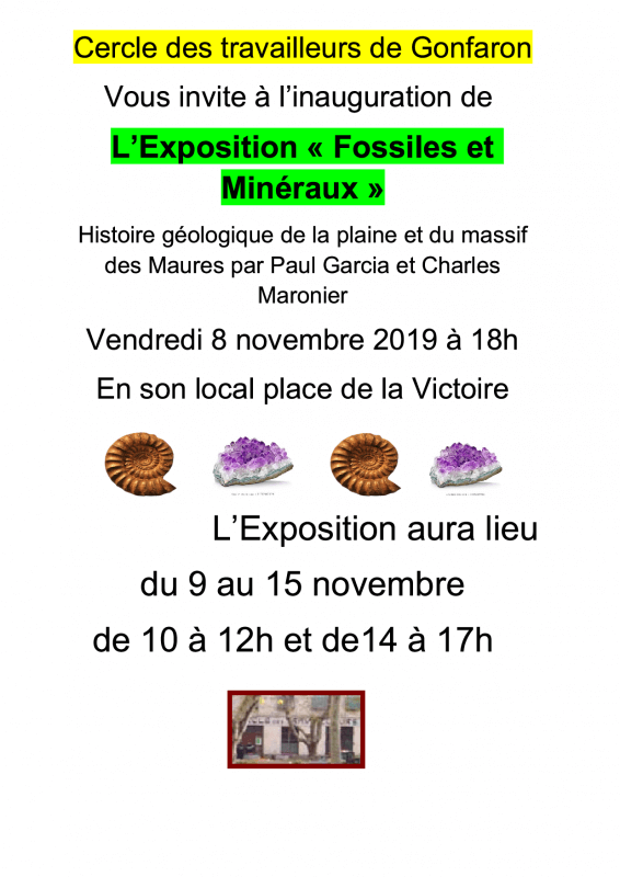 expo fossiles mineraux